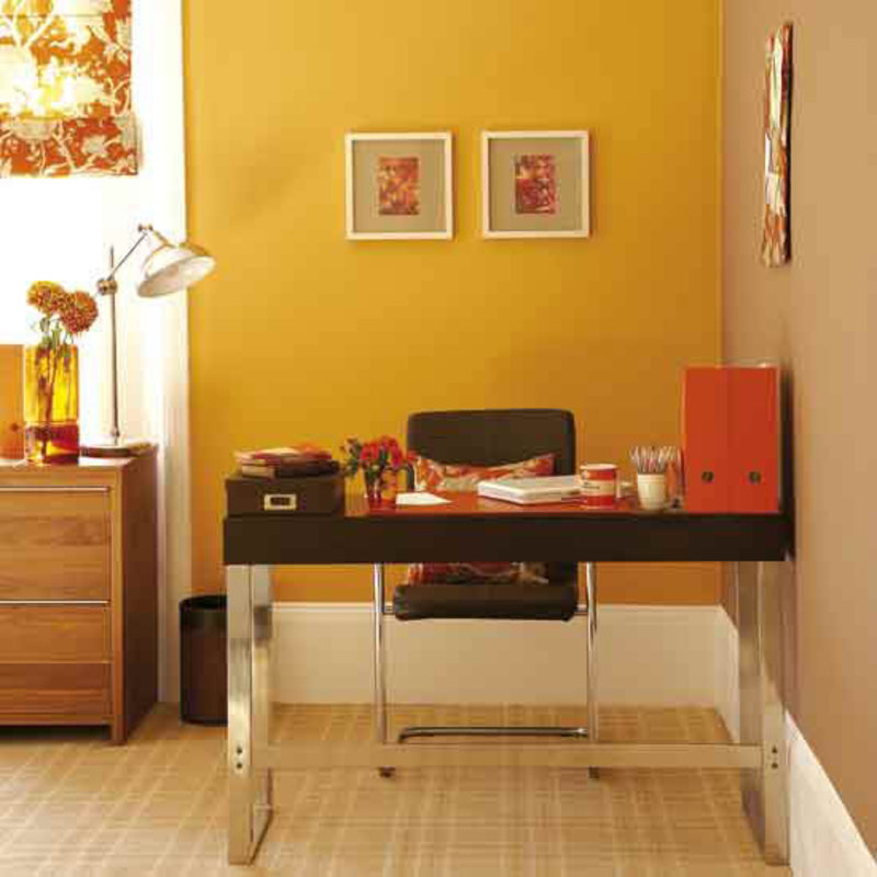 Yellow Home Office Space Decorating Ideas Design Pictures